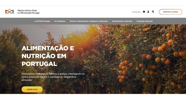 Novo site da Aliança contra a Fome e a Má-Nutrição